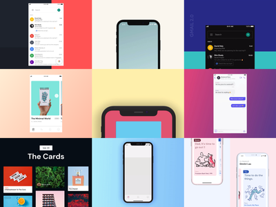 Best of 2019 new year 2020 best nine 2019 gradient cards iphone x video iphone design xd adobe xd ios ui