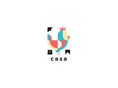Casa Logo type font brand icon color farm bird graphic design minimal logo