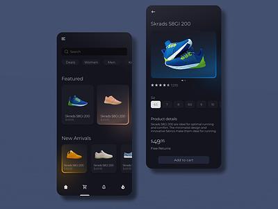 Shoe Store App figma uiux ui ux design ecommerce store app shoes app shoes