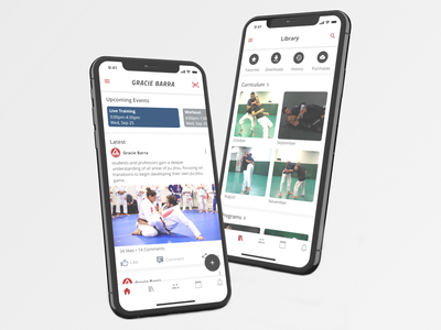 Jiu-Jitsu Learning App community e-learning learning ux jiu-jitsu martial art design uiux ui app
