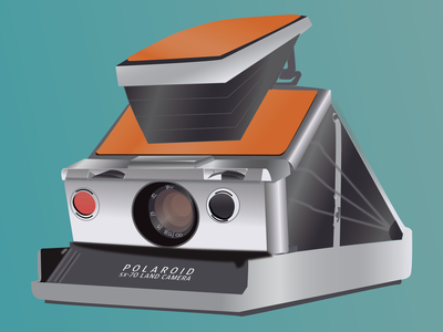 Polaroid illustration camera polaroid