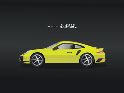 First Dribbble ui ux minimalist car debute porsche