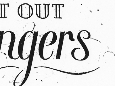 Logotype in progress for Les Flat Out Strangers (Hot Jazz Band)