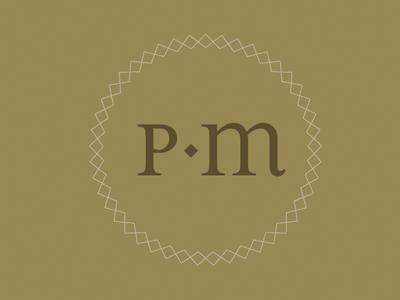 Identity study monogram brand identity initial custom stitch ryon edwards riggs partners design
