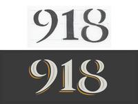 918 custom numerals
