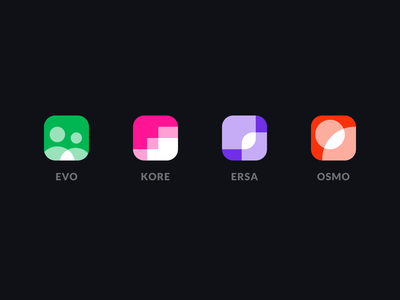 Icon set for apps dark theme branding logo app icon icons