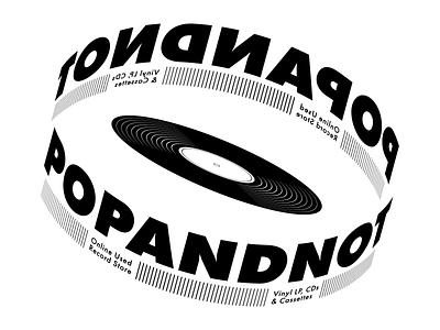 POPANDNOT Logo vinyl records record design illustrator vector branding logo