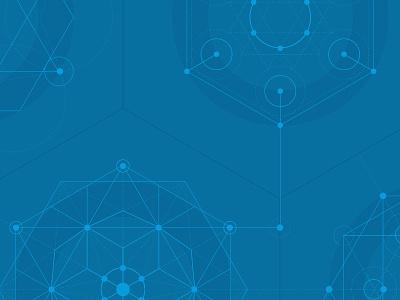 DIV & INC blue is good geometric line art sacred geometry