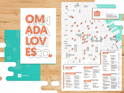 Omada Loves San Francisco local healthy financial district san francisco illustration its good to be orange offset map