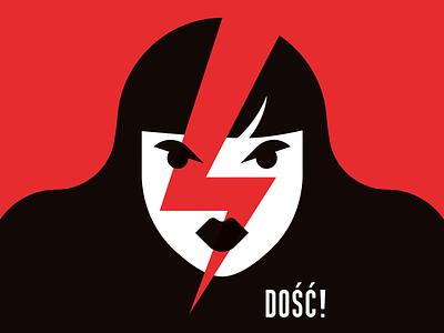 DOŚĆ! plakat poster strajk kobiet wypierdalać! dość enough ogólnopolski strajk kobiet