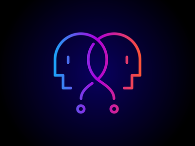 Because why not? Logo point of view questionmark profile neon question face podcast because why not logo