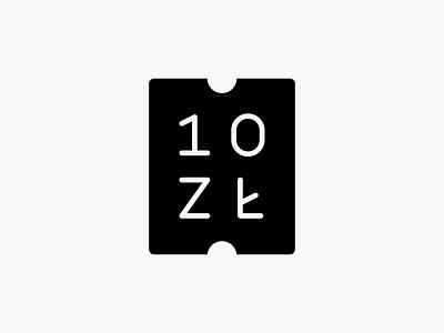 10ZŁ Ticket symbol pwyw money festival theatre pln 10zł ticket