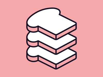 Slices of bread popsci science popular pictogram icon slice bread