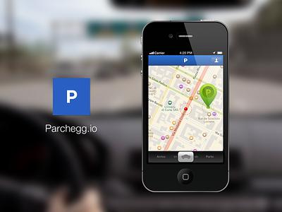 Parchegg.io #1 parcheggio parking ios app iphone carr