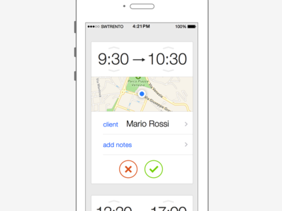 LabOre swtrento time tracking cards ui