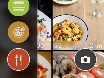 Foodar food radar visual lunch restaurants dinner discovery