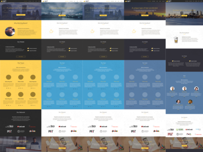 Morning Boost styling landing accelerator startup webdesign iterations workflow web