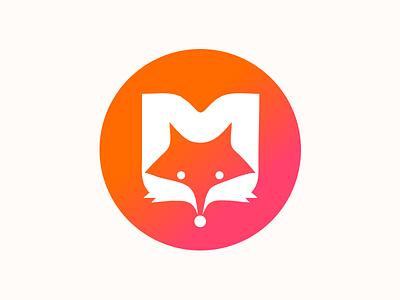 M-TECH orange fox m glyphs illustration logo