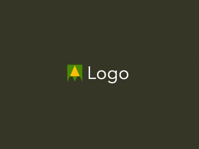 Logo origami am triangles minimalism
