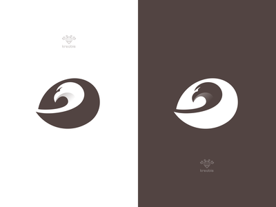 Eagle - Logo Design strong cool modern minimalist monogram logo simple hawk bird eagle