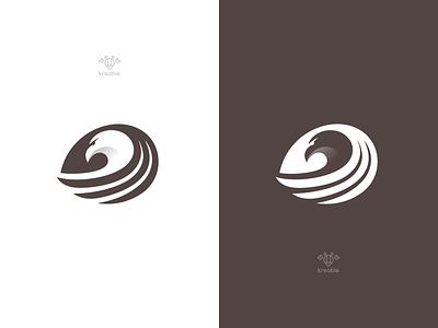 Eagle #C line design cool strong monogram minimalist logo simple leaf head eye hawk eagle