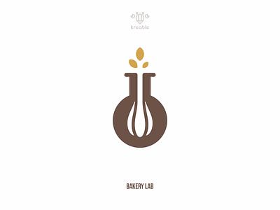 Bakery Lab - Logo Design design strong minimalist monogram health wheat lab logo simple food app restaurant kitchen food bakery