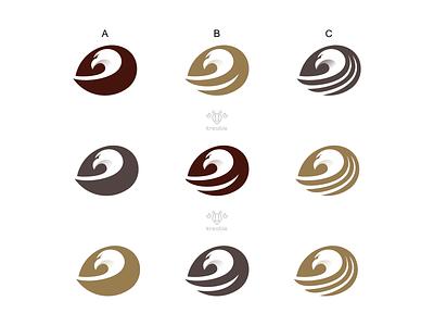Eagle Logo Variations minimalist monogram logo simple bird hawk eagle