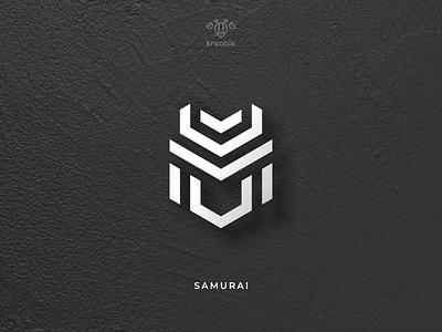 Samurai Head - Logo Symbol cool strong modern minimalist monogram logo simple blade sword samurai