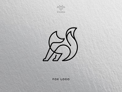 FOX - Logo design cool modern line minimalist monogram logo simple fox