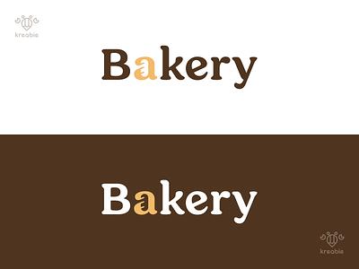 Bakery - Logotype strong design cool line modern minimalist monogram logo simple typography typogaphy bakery