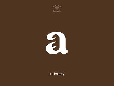 A + Bakery - Logo Design typography strong design cool line modern minimalist monogram logo simple food bakery