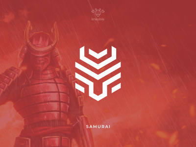 Samurai - Logo Design design cool line modern minimalist monogram logo simple japan ninja katana samurai