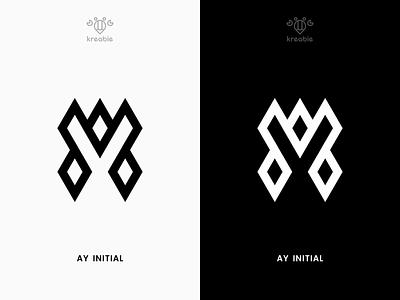 AY Initial - Logo Design line modern minimalist monogram logo simple strong design cool a y initial
