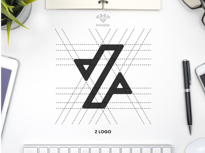 Z - Logo Design strong cool modern line minimalist monogram logo simple letter initial z