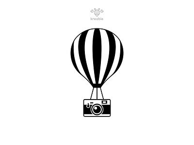 Camera Ballon photography letter home typography modern cool minimalist logo simple monogram camera air ballon