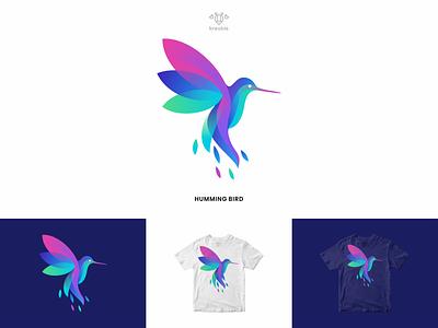 HummingBird Logo bird cool modern minimalist monogram logo simple hummingbird