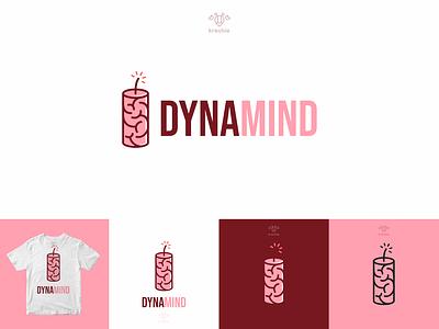 Brain Dynamite logo modern minimalist logo simple design brand dynamite bomb mind brain