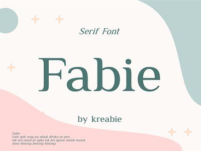 Fabie Serif Font serif font serif font