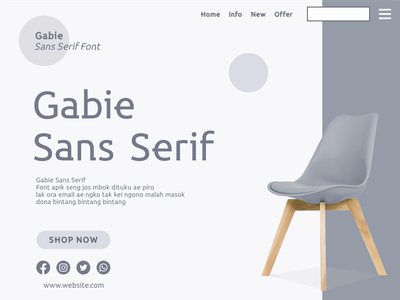 Gabie Sans Serif Font web font website sans serif sans-serif modern font font