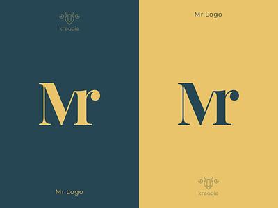 Mr Logo letter design line cool minimalist monogram logo simple initials logo modern initial logo m initial