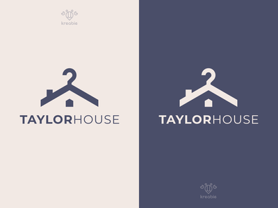 Taylor House cool modern minimalist monogram simple logo home fashion taylor clothing house