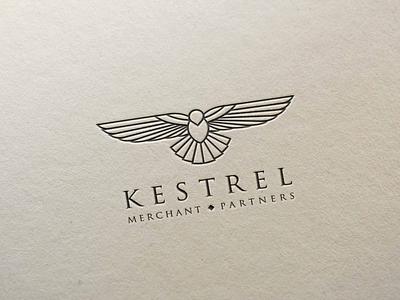 Kestrel logo logo hawk eagle monogram simple line bird