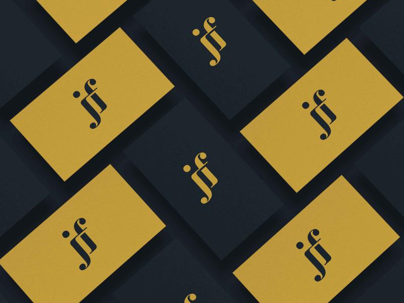 Jf Monogram Logo modern minimalist simple logo sophisticated monogram letter f flat j