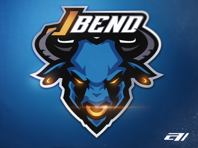 Blue bull blue bull esports athayadzn sports logo logo vector mascot logo illustration gaming design branding