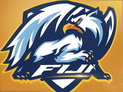 Griffin sports gaming design sports logo gryphon griffin athayadzn branding logodesign illustration mascot logo vector eagle logo esports eagle yellow gold