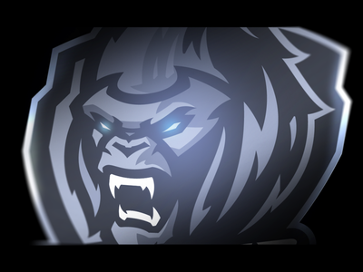 Metal gorilla graphic design mascot metallic metal monkey gorilla logo sports logo mascot logo illustration vector gaming design branding