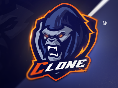 Hawt Gorilla yellow orange blue modern mascot sports gorilla logo sports logo mascot logo illustration vector gaming design branding