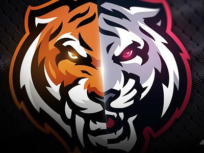 Duality sabertooth mascot logo tiger mascot logo graphic design animation fabric sports ui ux logo sports logo mascot logo illustration vector gaming design branding sabertooth tiger