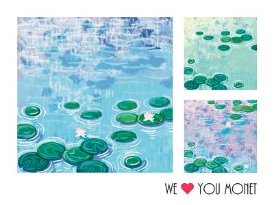 we love you monet illustrator illustration flat