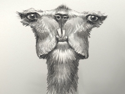 Nessel derp creature furry drawing sketch pencil